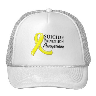 Suicide Prevention Awareness Ribbon Mesh Hats