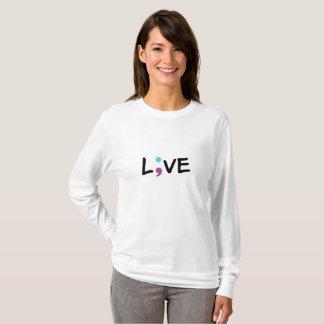 Suicide Prevention Awareness Semicolon Live T-Shirt