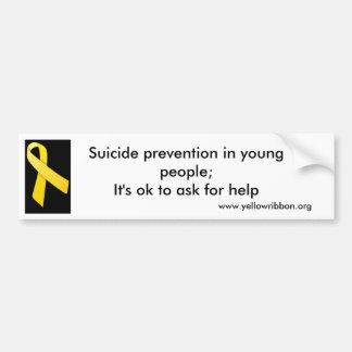 Suicide prevention bumper sticker