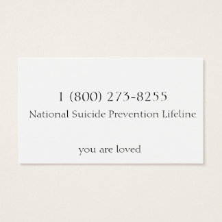 Suicide Prevention Business Card