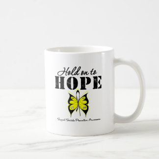 Suicide Prevention Hold On To Hope Basic White Mug