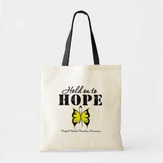 Suicide Prevention Hold On To Hope Canvas Bag