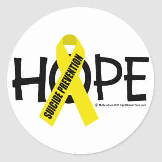 Suicide Prevention Hope Classic Round Sticker