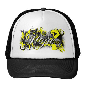 Suicide Prevention Hope Garden Ribbon Mesh Hats