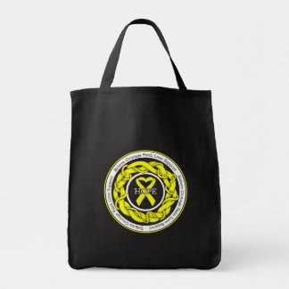 Suicide Prevention Hope Intertwined Ribbon Grocery Tote Bag
