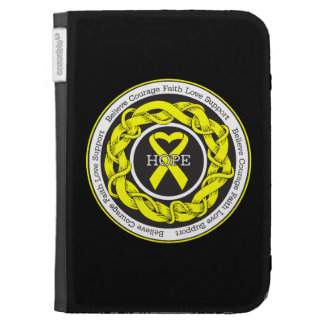 Suicide Prevention Hope Intertwined Ribbon Kindle Case