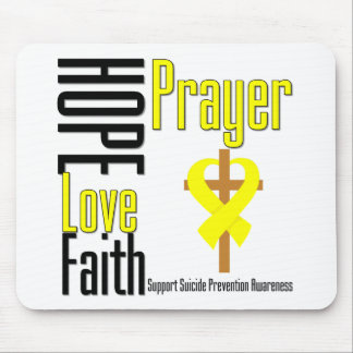 Suicide Prevention Hope Love Faith Prayer Mouse Pad
