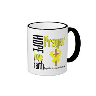 Suicide Prevention Hope Love Faith Prayer Coffee Mugs