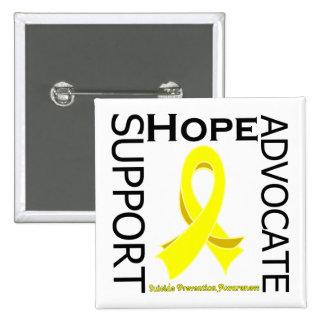Suicide Prevention Support Advocate Cure 2 Inch Square Button