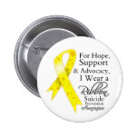 Suicide Prevention Support Hope Awareness Pinback Buttons