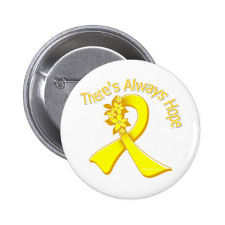 Suicide Prevention There s Always Hope Floral Pinback Button
