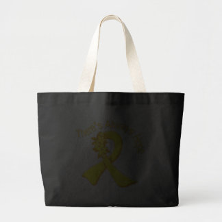 Suicide Prevention There's Always Hope Floral Jumbo Tote Bag