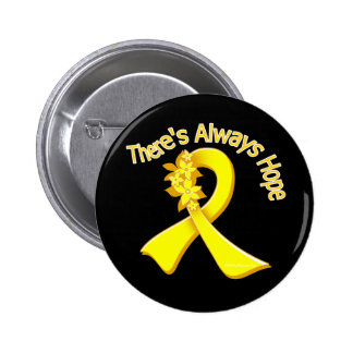 Suicide Prevention There's Always Hope Floral 2 Inch Round Button