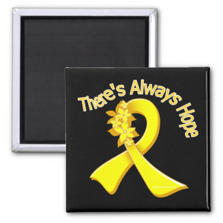 Suicide Prevention There's Always Hope Floral Refrigerator Magnet