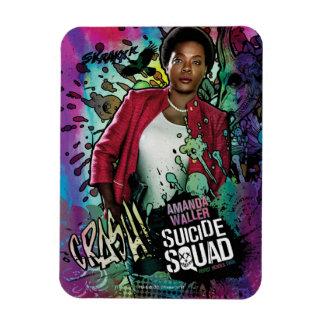 Suicide Squad | Amanda Waller Character Graffiti Rectangular Photo Magnet