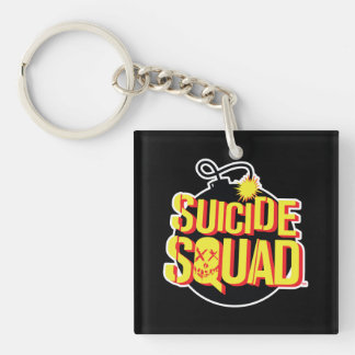 Suicide Squad | Bomb Logo Double-Sided Square Acrylic Keychain