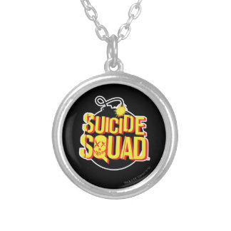 Suicide Squad | Bomb Logo Silver Plated Necklace