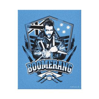 Suicide Squad   Boomerang Badge Canvas Print