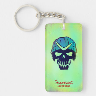 Suicide Squad | Boomerang Head Icon Double-Sided Rectangular Acrylic Keychain