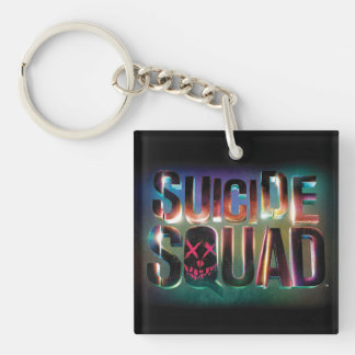 Suicide Squad | Colorful Glow Logo Double-Sided Square Acrylic Keychain