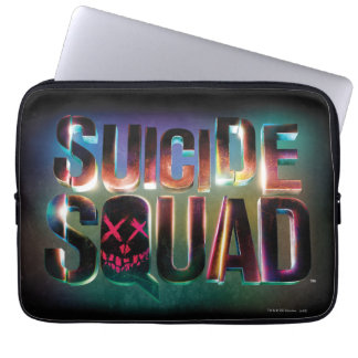 Suicide Squad | Colorful Glow Logo Laptop Sleeves