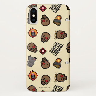 Suicide Squad | Deadshot Emoji Pattern iPhone X Case