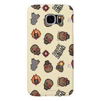 Suicide Squad | Deadshot Emoji Pattern Samsung Galaxy S6 Cases