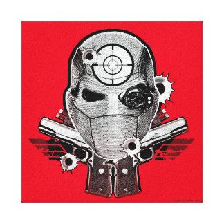 Suicide Squad   Deadshot Mask & Guns Tattoo Art Canvas Print