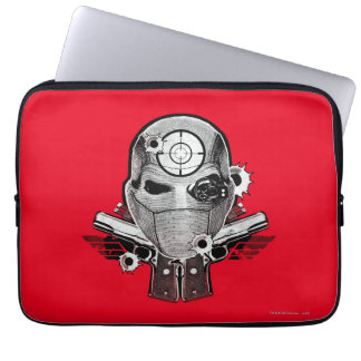Suicide Squad | Deadshot Mask & Guns Tattoo Art Laptop Sleeve