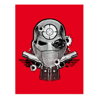 Suicide Squad | Deadshot Mask & Guns Tattoo Art Postcard