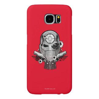 Suicide Squad | Deadshot Mask & Guns Tattoo Art Samsung Galaxy S6 Cases