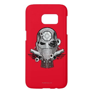 Suicide Squad | Deadshot Mask & Guns Tattoo Art Samsung Galaxy S7 Case