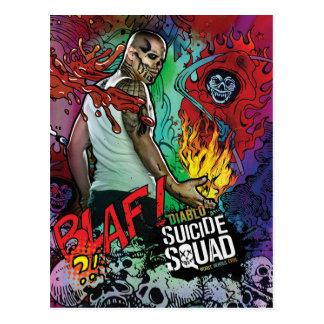 Suicide Squad   Diablo Character Graffiti Postcard