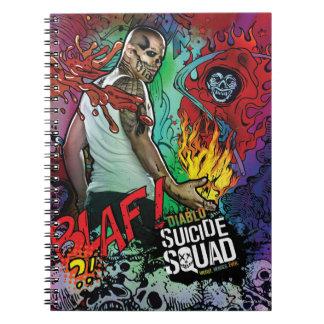 Suicide Squad   Diablo Character Graffiti Spiral Note Book