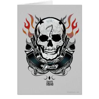 Suicide Squad | Diablo Skull & Flames Tattoo Art Card