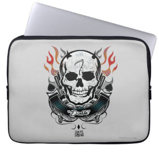 Suicide Squad | Diablo Skull & Flames Tattoo Art Laptop Sleeves