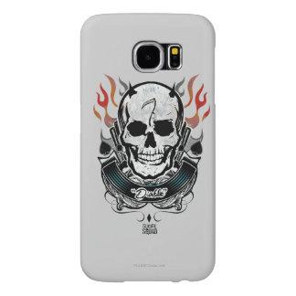Suicide Squad | Diablo Skull & Flames Tattoo Art Samsung Galaxy S6 Cases