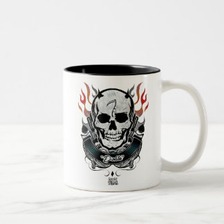 Suicide Squad | Diablo Skull & Flames Tattoo Art Two-Tone Coffee Mug