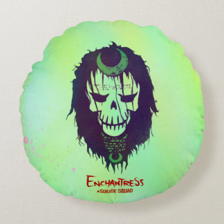 Suicide Squad | Enchantress Head Icon Round Pillow