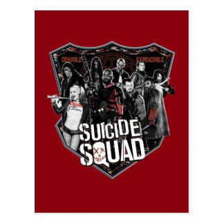 Suicide Squad   Group Badge Photo Postcard