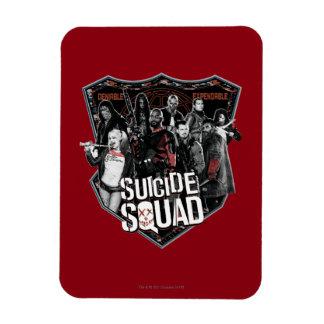 Suicide Squad   Group Badge Photo Rectangular Photo Magnet