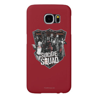Suicide Squad | Group Badge Photo Samsung Galaxy S6 Cases