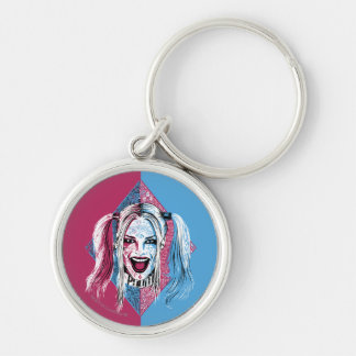 Suicide Squad | Harley Laugh Silver-Colored Round Keychain