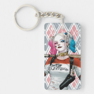 Suicide Squad | Harley Quinn Double-Sided Rectangular Acrylic Keychain