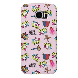 Suicide Squad | Harley Quinn Emoji Pattern Samsung Galaxy S6 Cases