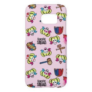 Suicide Squad | Harley Quinn Emoji Pattern Samsung Galaxy S7 Case