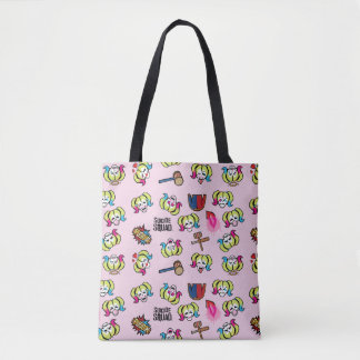 Suicide Squad | Harley Quinn Emoji Pattern Tote Bag