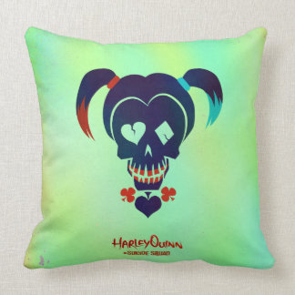 Suicide Squad | Harley Quinn Head Icon Throw Pillow