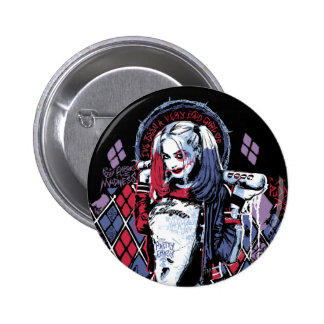 Suicide Squad | Harley Quinn Inked Graffiti 2 Inch Round Button