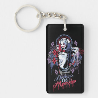 Suicide Squad | Harley Quinn Inked Graffiti Double-Sided Rectangular Acrylic Keychain